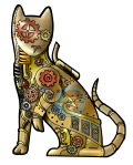 Knight Time Creations Steampunk Cat
