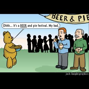 bear and pie