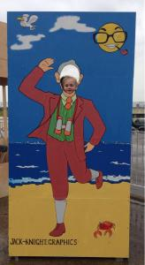 One of the three peep boards created for the Morecambe Carnival